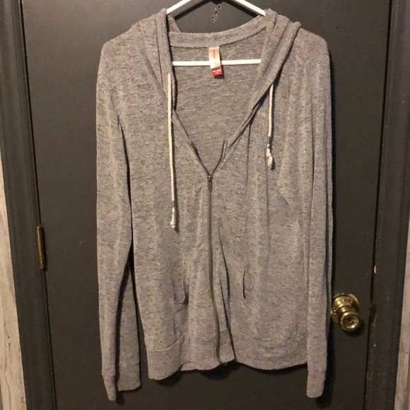 Jackets & Blazers - Grey zip up hoodie